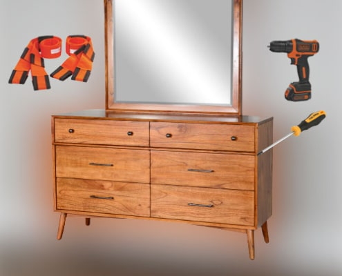 MOVING A DRESSER WITH MIRROR