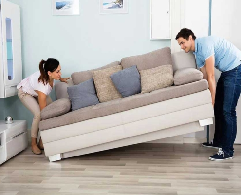 Moving a Sofa Easily