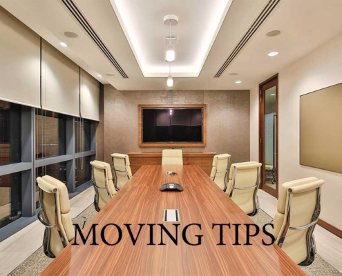 Moving a conference table